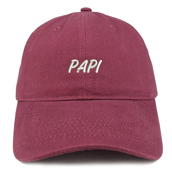 Trendy ropa tienda papi bordado Papá Sombrero ajustable algodón gorra de béisbol - Rojo - : Amazon.es: Ropa y accesorios