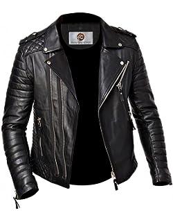 Amazon.com: Chaqueta de piel de cordero para hombre ...
