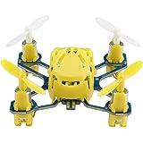 Arshiner Hubsan H111 Mini Quadcopter nano drohne 2,4 GHz 4 Kanäle 6-Achsen-Gyro LED-Licht (Gelb)