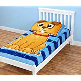 ZippySack - Puppy Brown/Blue Twin Size Bedding Solution with Zipper Closure