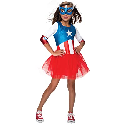 Rubie's Marvel Classic Child's American Dream Metallic Costume, Large (620035_L),As Shown: Toys & Games