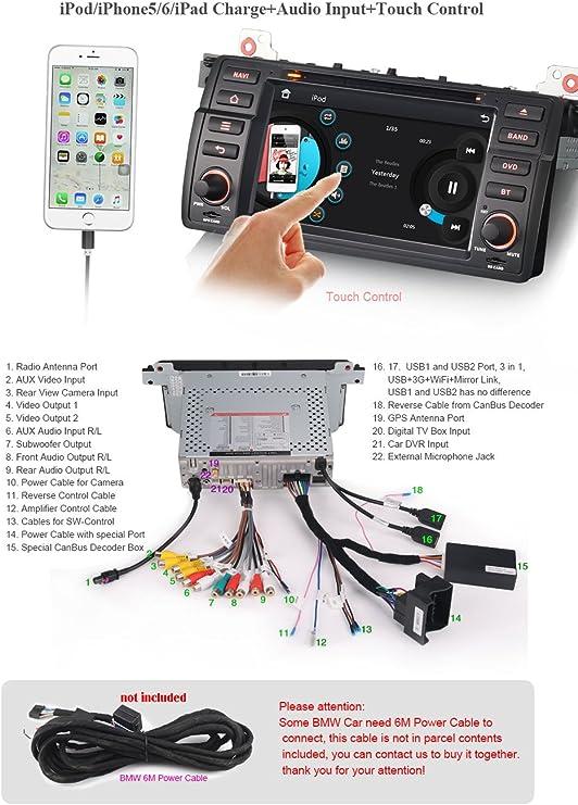 Radio estéreo para coche de Erisin; de 17,68 cm, con ...