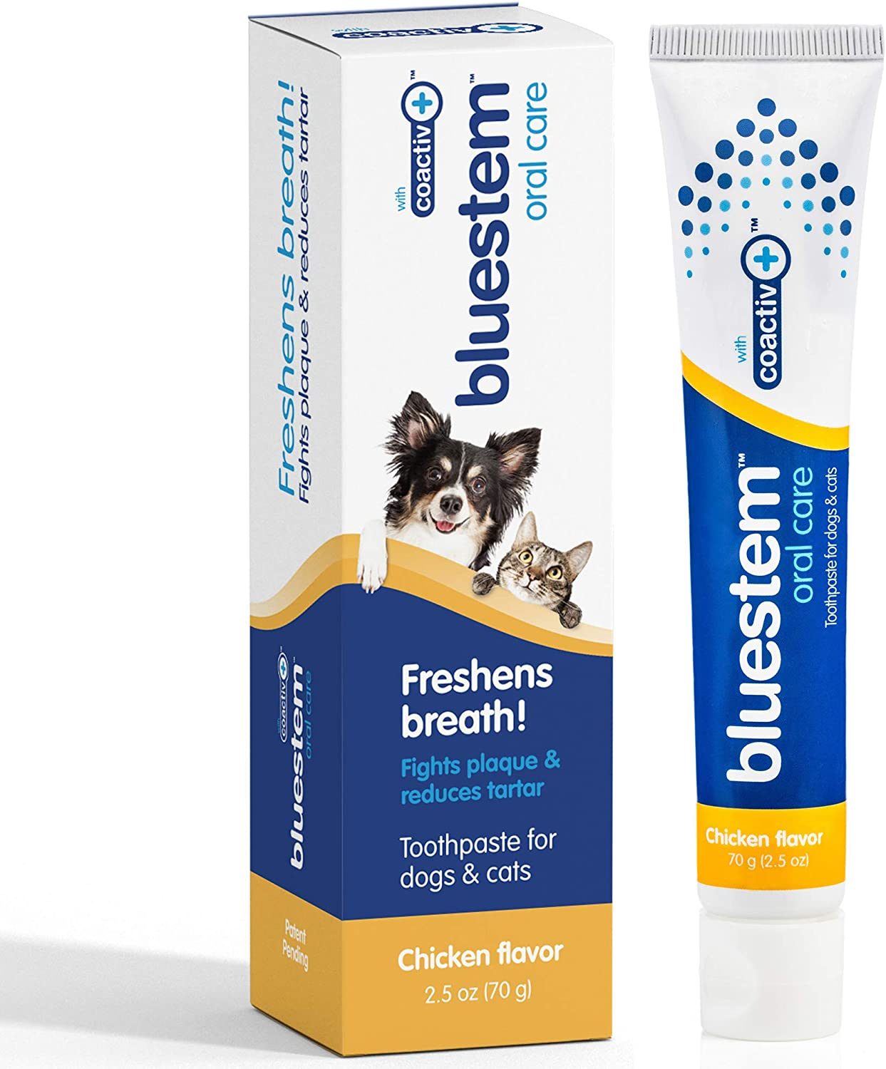 Dog Toothpaste : Dog & Cat Dental Care Tooth Paste Promotes Fresh Breath Teeth Brushing Cleaner Pet Breath Freshener Oral Care Dental Cleaning Kit. Tartar & Plaque Remover Toothbrush