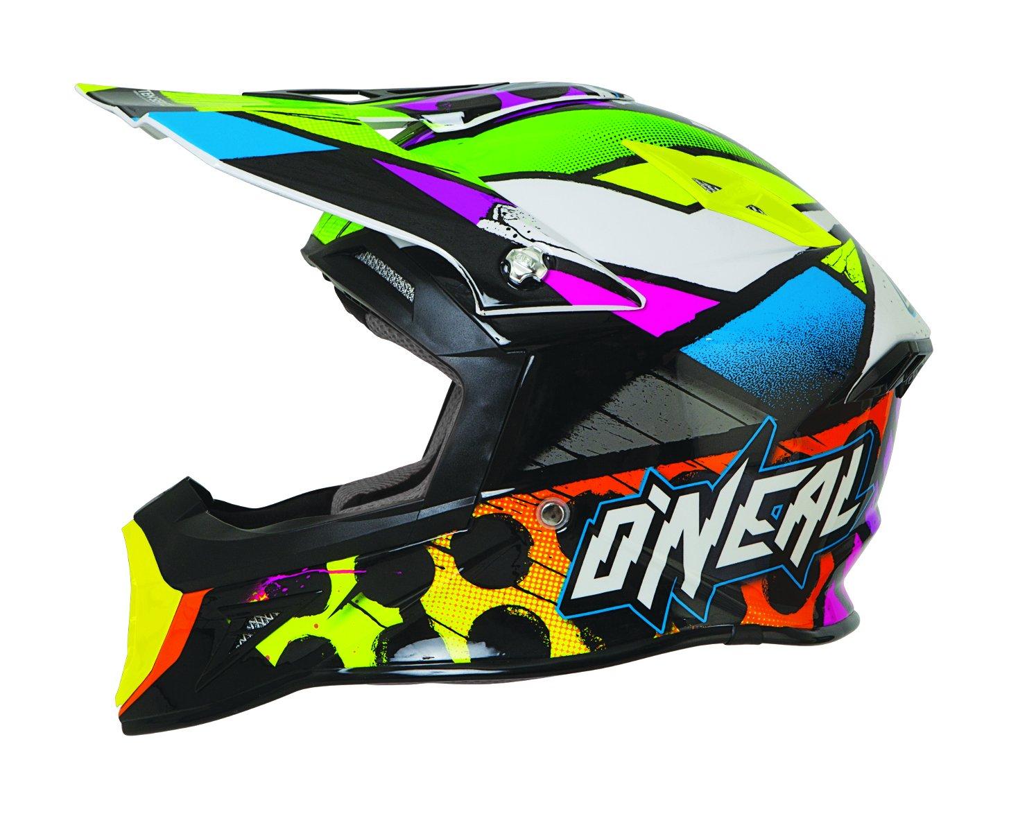 ONeal 10 Series Glitch Helmet Black//Neon, XX-Large