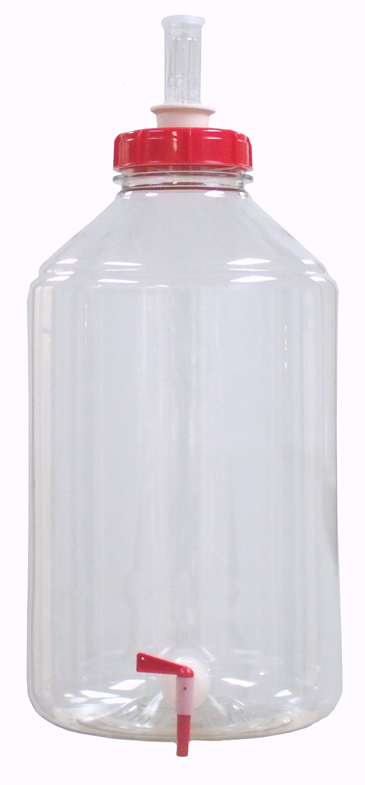 Fermonster 7 Gallon Wide Mouth Plastic Fermenter with Spigot, Stopper, & Air Lock