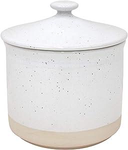Casafina Fattoria Collection Stoneware Ceramic Medium Canister 49 oz, White