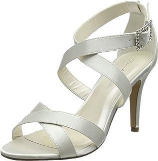fe0519b66 Paradox London Women's Augustine Satin Wedding Shoes Bridal Mid Heel ...