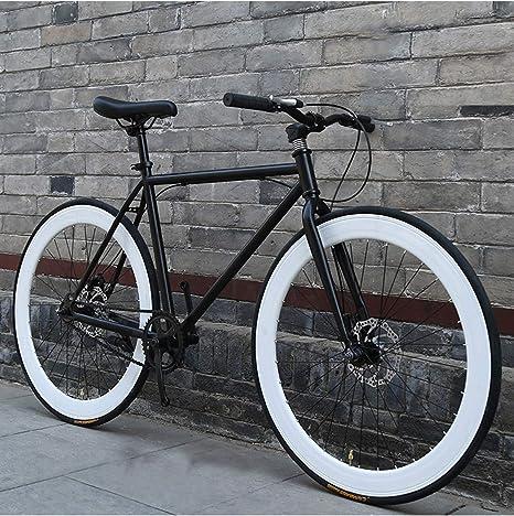 Riscko Wonduu Bicicleta Fixie Urbana Blanco: Amazon.es: Deportes y ...