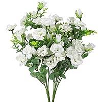 Luyue Künstlicher Seiden-Blumenstrauß mit 7Stielen und 21 Rosen, 2Stück