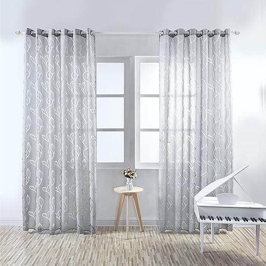 Amazon.de: Vorhänge, Gardinen, Schleier, mit Ösen, Fenstervorhang ...