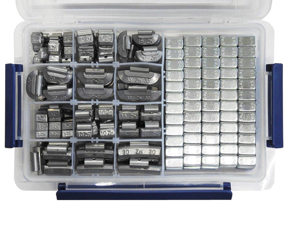 150 tlg. Auswuchtgewichte Set Stahl u. Alu DT Parts 16800