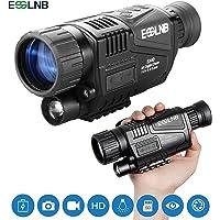 ESSSLNB Monoculaire Vision Nocturne 5X40 Vision Nocturne Enregistrement d'images et de Vidéos Fonction de Rejeu avec 8GB TF Carte 1.5 inch écran LCD TFT pour Chasse