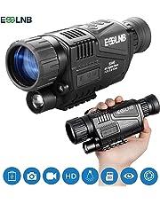ESSLNB Nachtsichtgerät Jagd Militär 5X40 Digital Day Night Vision Scope mit 8GB TF Karte Infrarot Kamera und Stativanschlussgewinde Wiedergabe Foto und Videoaufnahmefunktion bei Tag und Nacht