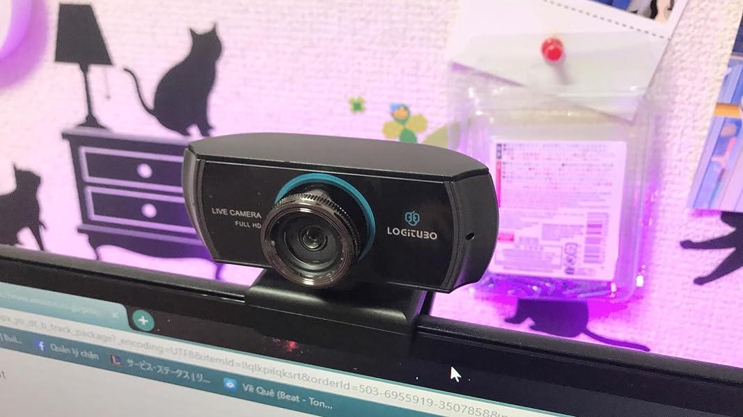 Logitubo-HDウェブカメラ1080P-1536Pライブストリーミングカメラ300万画素デュアルマイクロフォンウェブカム付きXBox-Macbook-Facebook
