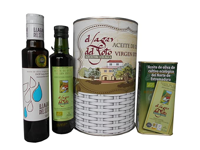 Lote de Aceite de Oliva Virgen extra cultivo ecológico El Lagar del Soto en lata con