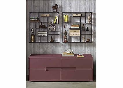 Aprodz Mango Wood Corta Sideboard Storage Dresser for Living Room | Pasadena Rose Finish