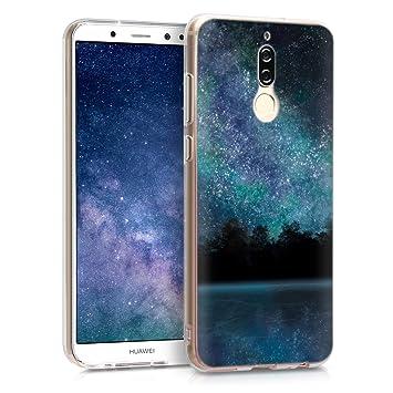 kwmobile Funda para Huawei Mate 10 Lite - Carcasa de TPU para móvil y diseño de Cielo Estrellado en Azul/Negro