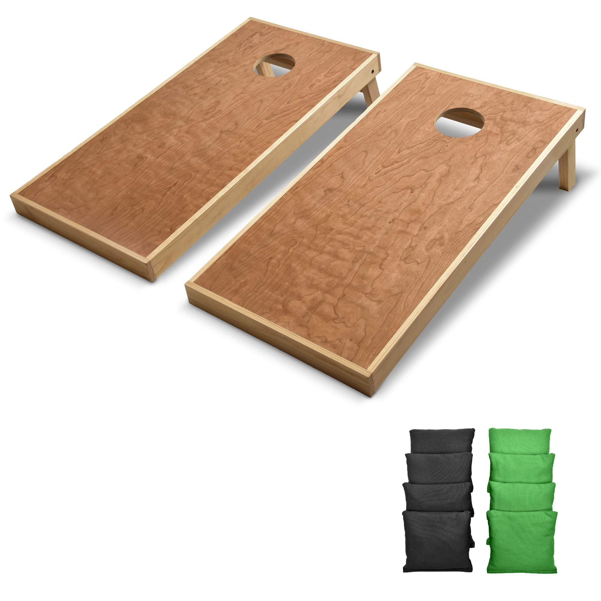 GoSports 4' x 2' Commercial Grade Cornhole Boards Set | Includes Bean Bags (Choose Your Colors) Over 100 Color Combinations