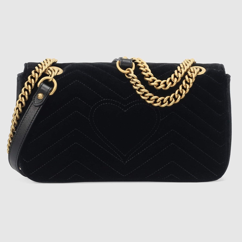 KK,BAG GUCCI GG Marmont velvet shoulder bag (black velvet