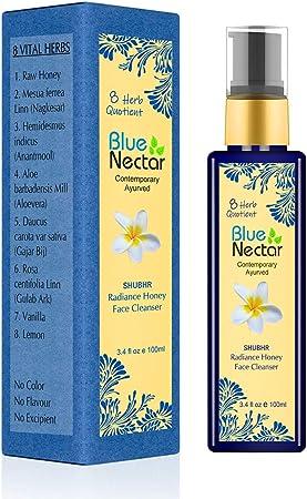 Blue Nectar Ayurvedic Honey Aloevera Face Wash For All Skin Types – 100 Ml