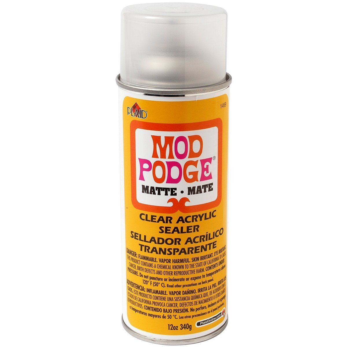 Mod Podge Clear Acrylic Sealer (12-Ounce), 1469 Matte 2 Pack