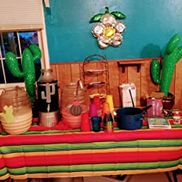 Amazon.com: coopay 2 Pack hinchable Cactus telón de fondo de ...