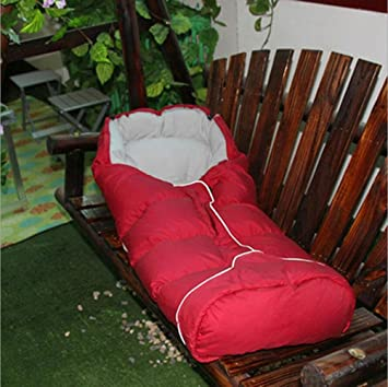 BUSL Al aire libre de plumas saco de dormir acampando alpinismo cálido ultra luz niños saco de dormir rojo: Amazon.es: Deportes y aire libre
