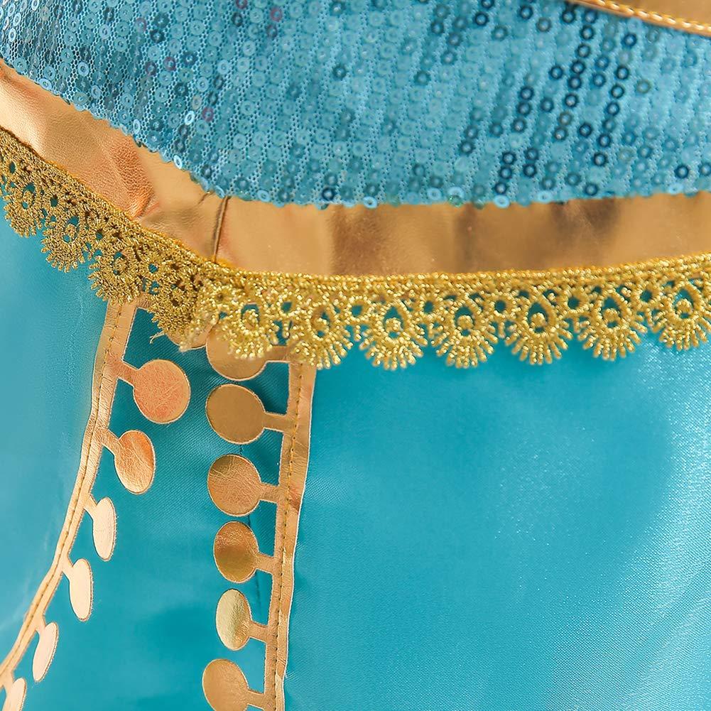 per bambine con lustrini Cozyhoma Costume di Carnevale da principessa araba