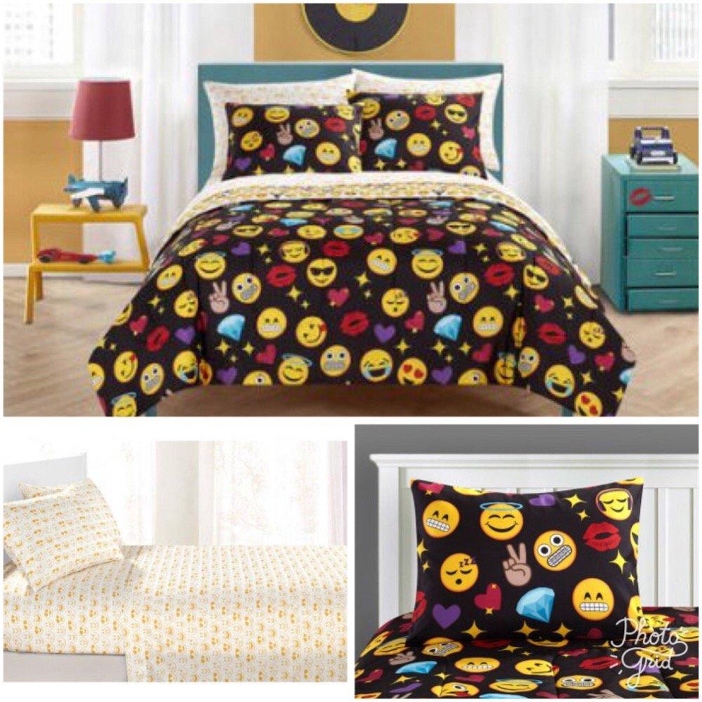 Emoji Pals Kids 7 Piece Queen Bedding Set