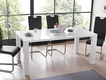 Hochglanz Tisch Weiss