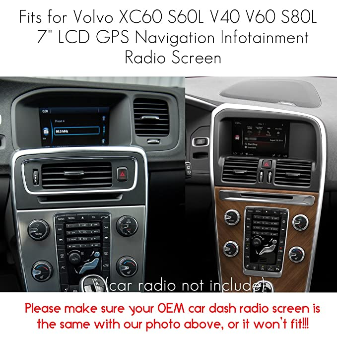 Naviurway 2Pack Tempered Glass Screen Protector Compatible with Volvo XC60 S60L V40 V60 S80L 2014-2017 7 inch Radio GPS Navigation Infotainment System