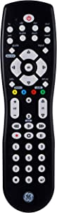 GE Universal Remote Control for Samsung, Vizio, LG, Sony, Sharp, Roku, Apple TV, RCA, Panasonic, Smart TVs, Streaming Players, Blu-Ray, DVD, Simple Setup, 8-Device, Black, 26607