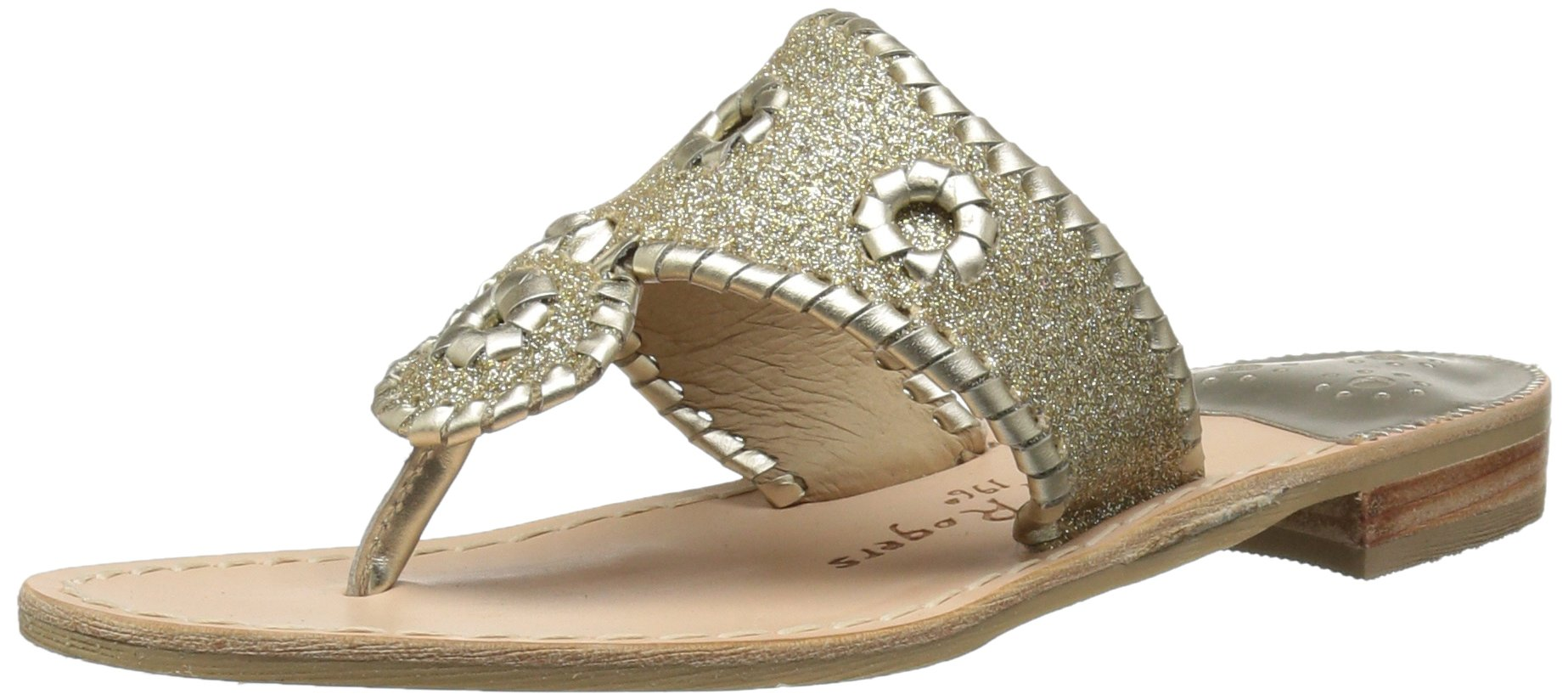 Jack Rogers Women's Sparkle Sandal, Platinum/Platinum, 9 M US