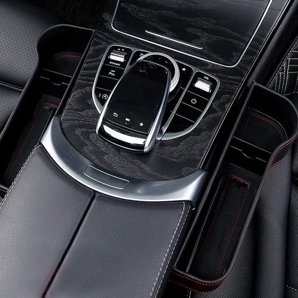 Car Seat Gap Filler Storage Box Organizador de Bolsillo de Piel sint/ética para Asiento de Coche N, L Organizador de bolsillo lateral Cuero de PU Organizador de coches de costura