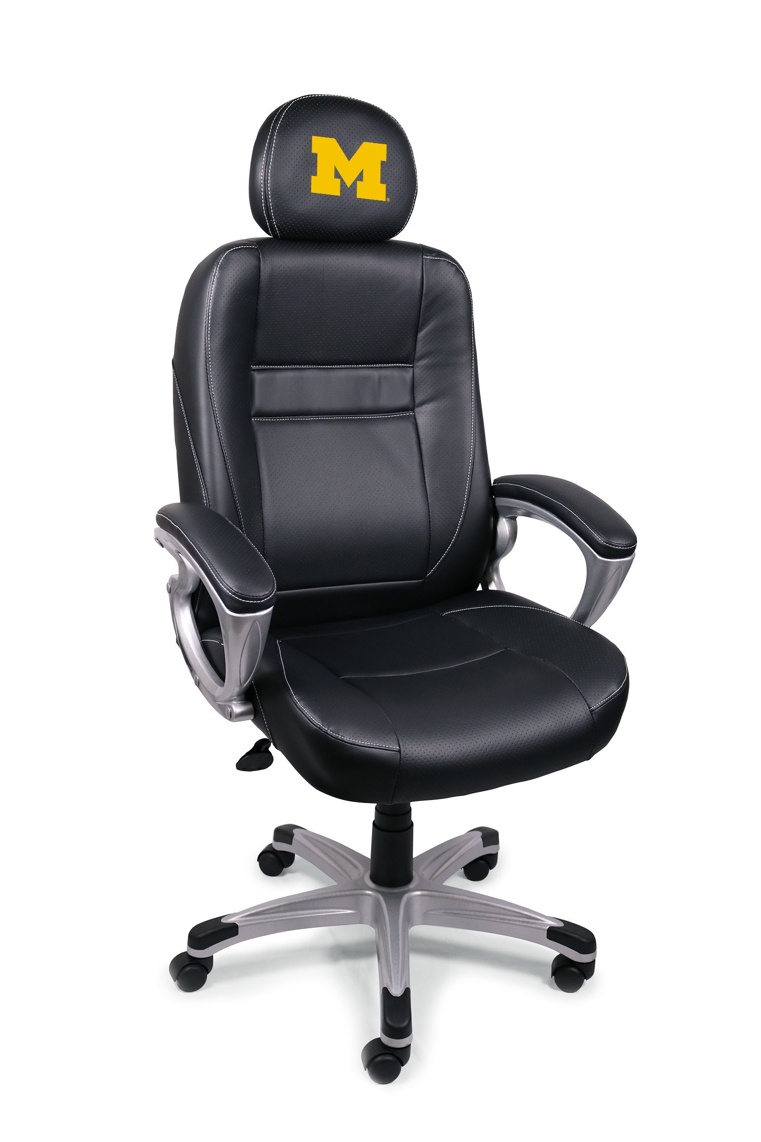 NCAA College Michigan Wolverines Leather Office Chair