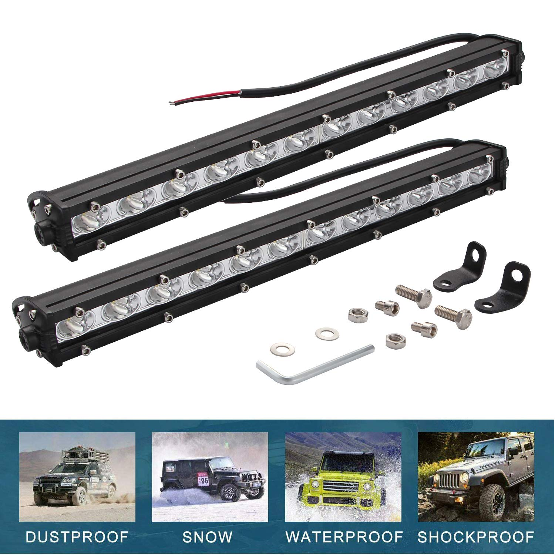3 12V 24V 42W 6000lm Faretti LED Auto IP67 Impermeabile per off-Road Truck Jeep Caravan SUV Rotondo CICMOD 4 Pzs Fari Lavoro LED