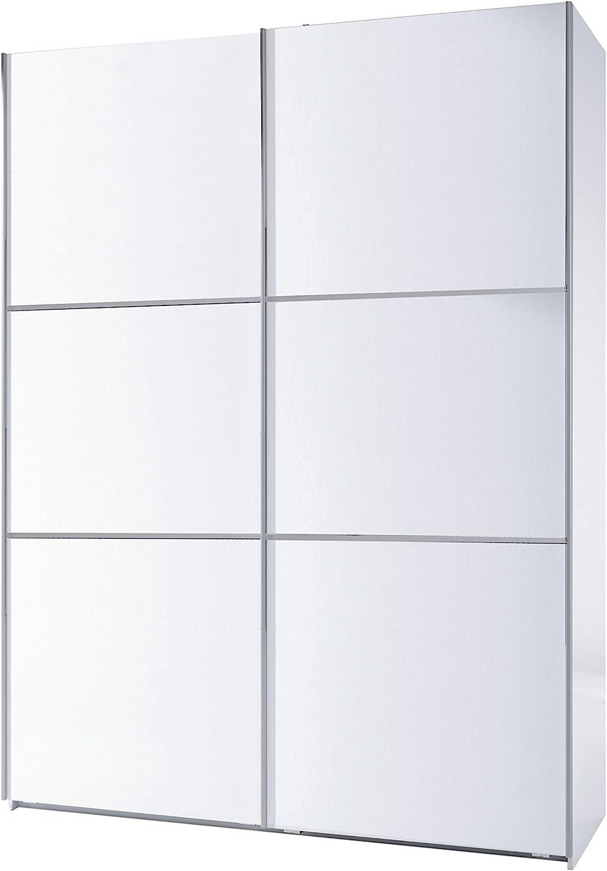Habitdesign ARC150BO - Armario Dos Puertas correderas, Armario Dormitorio Acabado en Color Blanco Brillo, Medidas: 150 (Largo) x 200 (Alto) x 63 cm (Fondo)