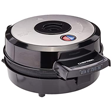 Chefman Belgian Perfect Pour Volcano Belgian Waffle Maker, No Overflow Waffle Iron for Mess-& Stress-Free Waffles Best Small Appliance Innovation Award Winner-FREE Measuring Cup & Pour Spout-RJ04-4RV