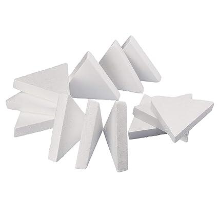 Amazon Com Craft Foam 12 Count Triangle Shaped Foam Sculpture