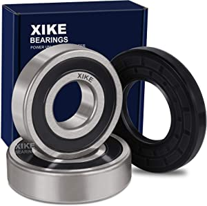 XiKe W10285625 Front Load Washer Tub Bearing & Seal Kit, Rotate Quiet and Durable Replacement for Whirlpool, Maytag, Amana, Inglis, 1552638, PS2373033 and W10200751 Etc.
