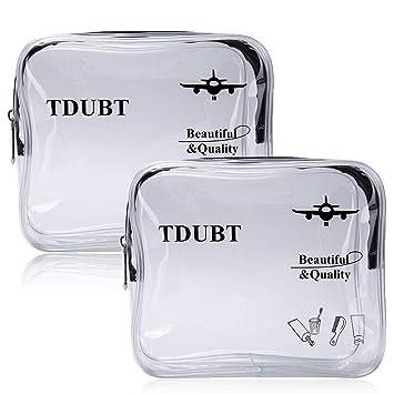 6da7ed638c5f Amazon.com   (2 PACK) TSA Approved Clear Travel toiletry Bag