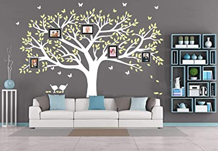 d5b25f0575 Image Unavailable. Image not available for. Color  LSKOO Family Photo Frame  Tree Wall Decals ...
