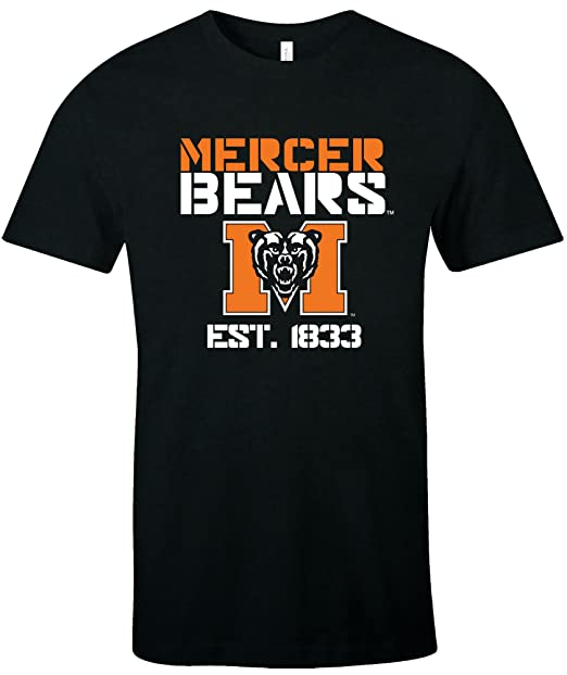 pretty nice ec1a0 cf366 NCAA Mercer Bears Est Stack Jersey Short Sleeve T-Shirt, Brown,XX-Large