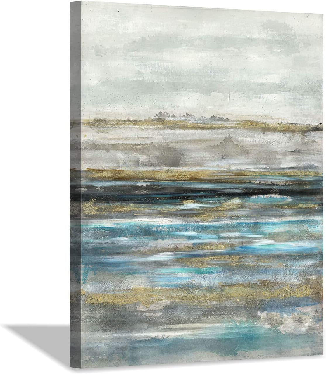 Colorful Abstract Canvas Wall Art: Modern Texture Oil Painting Artwork for Living Rooms (18x24x1 Panel)