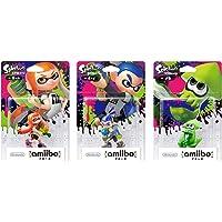 amiibo Splatoon 3 Types Set Girl Boy squid Mascot Platform Nintendo Wii U Game by Nintendo