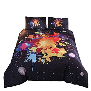 3D Effect Bedding Complete Set With Duvet Cover,Pillow Cases /& Fitted Sheet 219