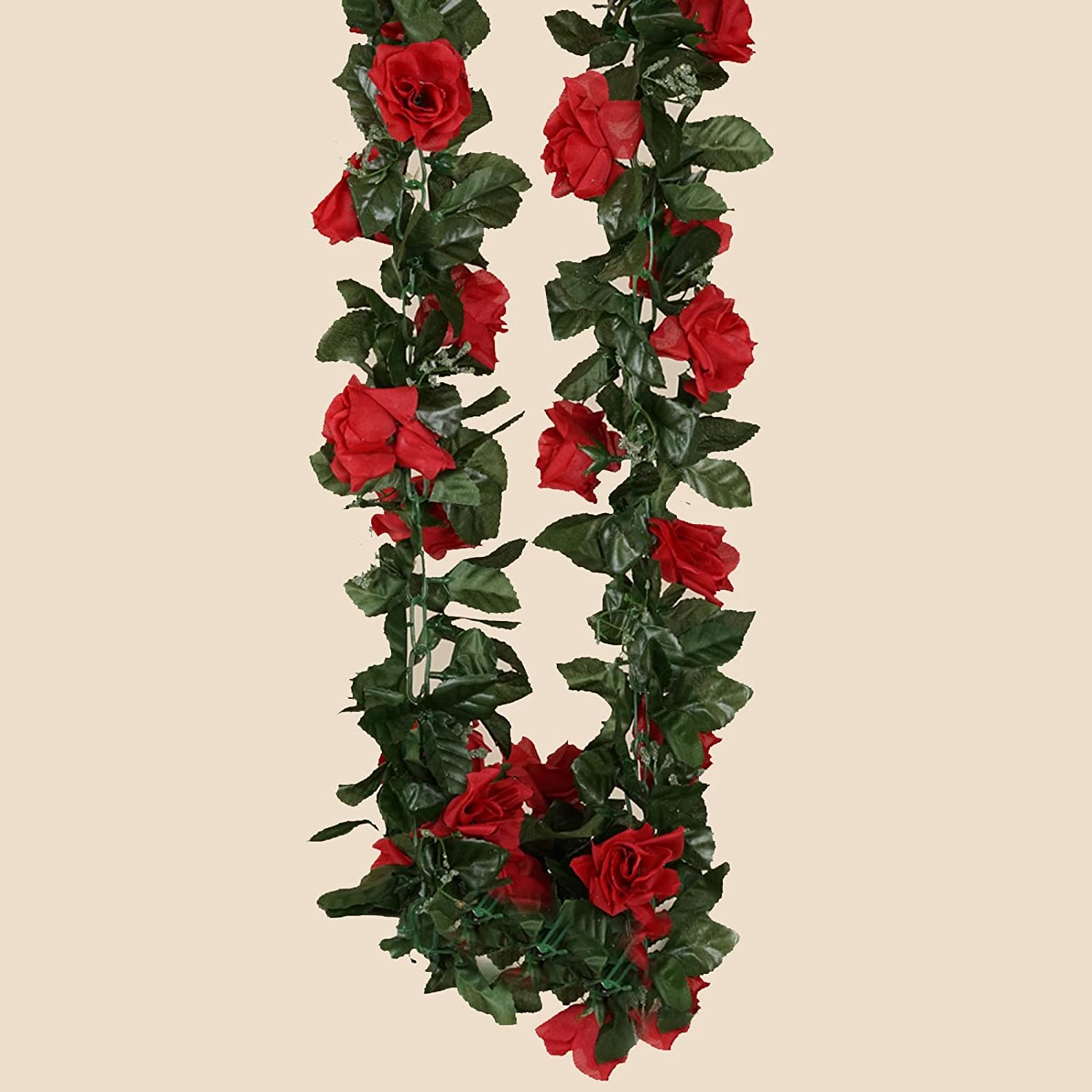 Amazon.com: BalsaCircle 24 ft Peach 3D Chain Silk Rose Garlands ...