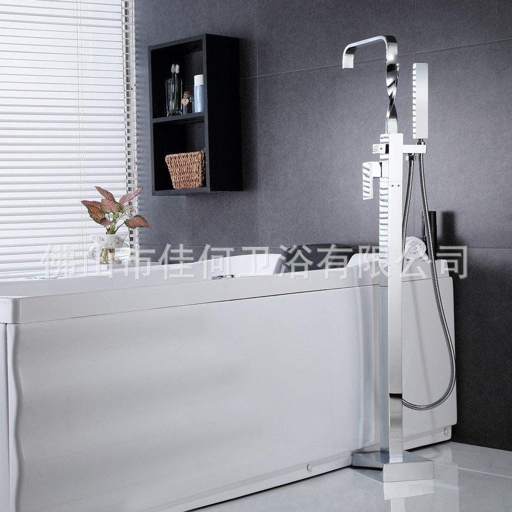 Furesnts Modern home kitchen and Bathroom Sink Taps Square all bronze ceiling bathtub Mixer tube 7 BA Bathroom Sink Taps,(Standard G 1/2 universal hose ports)