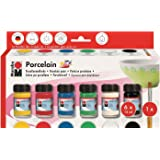 """Marabu Kit Peinture pour porcelaine """"Porcelain"""" 6 x 15 ml"""