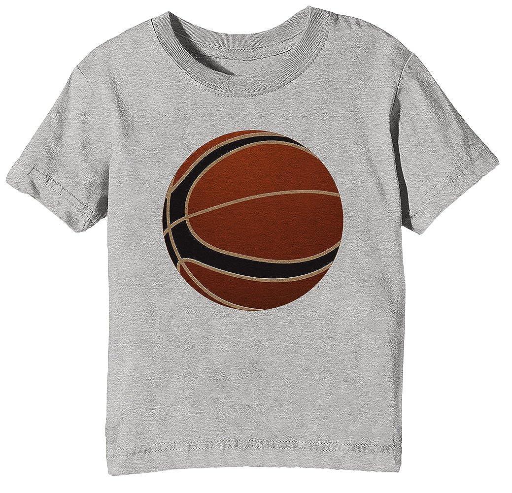Baloncesto Pelota Niños Unisexo Niño Niña Camiseta Cuello Redondo ...